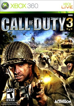 Call of Duty 3 Xbox 360 Box Art