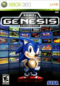 Sonic's Ultimate Genesis Collection Xbox 360 Box Art