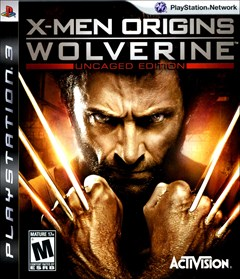 X-Men Origins: Wolverine - Uncaged Edition PlayStation 3 Box Art
