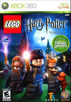LEGO Harry Potter: Years 1-4 Xbox 360 Box Art