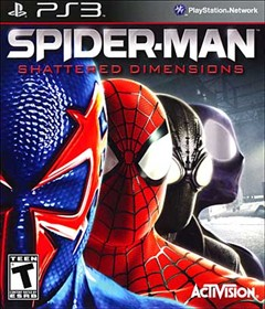 Spider-Man: Shattered Dimensions PlayStation 3 Box Art