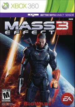 Mass Effect 3 Xbox 360 Box Art