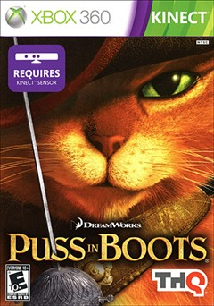 Puss in Boots Xbox 360 Box Art