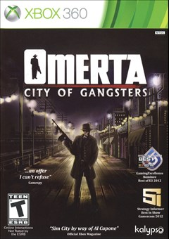 Omerta: City of Gangsters Xbox 360 Box Art