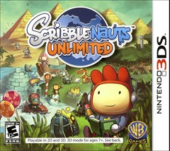 Scribblenauts Unlimited Nintendo 3DS Box Art