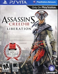Assassin's Creed III: Liberation PlayStation Vita Box Art