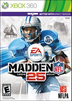 Madden NFL 25 Xbox 360 Box Art