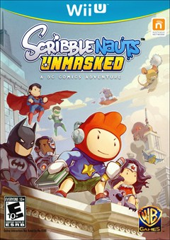 Scribblenauts Unmasked: A DC Comics Adventure Wii U Box Art
