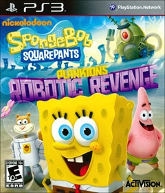 Spongebob Squarepants: Plankton's Robotic Revenge PlayStation 3 Box Art