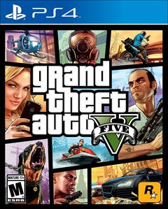 Grand Theft Auto V PlayStation 4 Box Art