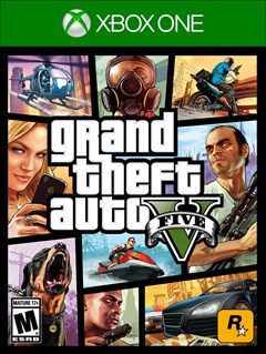 Grand Theft Auto V Xbox One Box Art