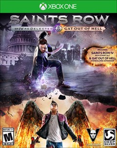 Saints Row IV: Re-Elected + Gat out of Hell Xbox One Box Art