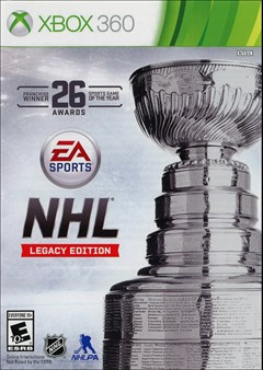 NHL Legacy Edition Xbox 360 Box Art