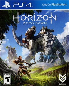 Horizon Zero Dawn PlayStation 4 Box Art