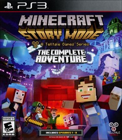 Minecraft Story Mode: The Complete Adventure PlayStation 3 Box Art