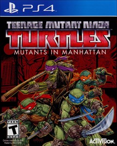 Teenage Mutant Ninja Turtles: Mutants in Manhattan PlayStation 4 Box Art