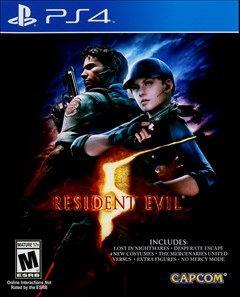 Resident Evil 5 HD PlayStation 4 Box Art