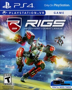 RIGS Mechanized Combat League PlayStation 4 Box Art