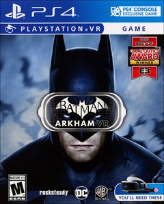 Batman Arkham VR PlayStation 4 Box Art