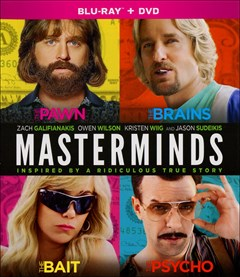 Masterminds (2016) Blu-ray Box Art