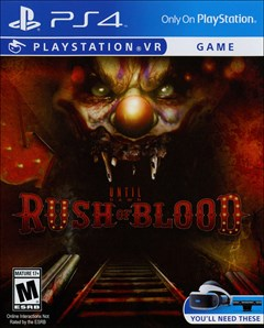 Until Dawn: Rush of Blood PlayStation 4 Box Art