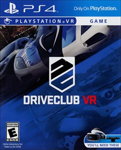 DriveClub VR PlayStation 4 Box Art