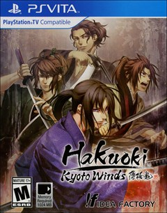 Hakuoki: Kyoto Winds PlayStation Vita Box Art