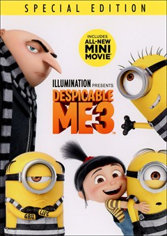 Despicable Me 3 DVD Box Art