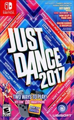 Just Dance 2017 Nintendo Switch Box Art