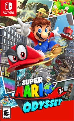 Super Mario Odyssey Nintendo Switch Box Art
