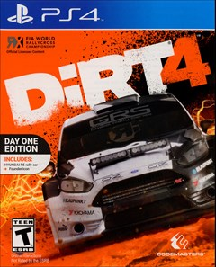 Dirt 4 PlayStation 4 Box Art