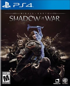 Middle-Earth: Shadow of War PlayStation 4 Box Art