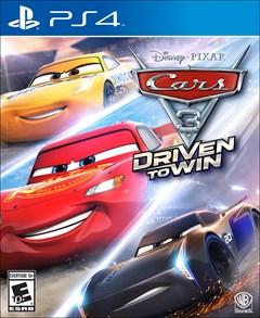 Cars 3: Driven to Win PlayStation 4 Box Art