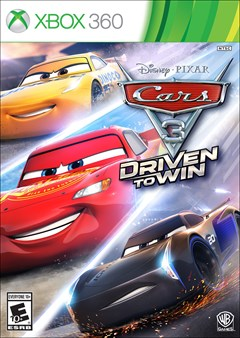 Cars 3: Driven to Win Xbox 360 Box Art
