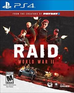 Raid: World War II PlayStation 4 Box Art