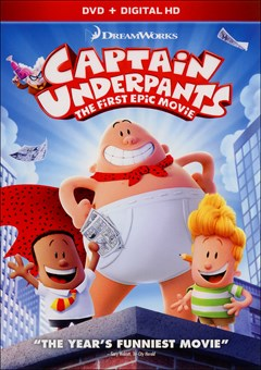 Captain Underpants: The First Epic Movie DVD Box Art