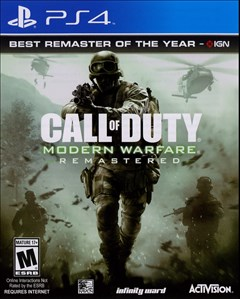 Call of Duty: Modern Warfare Remastered PlayStation 4 Box Art