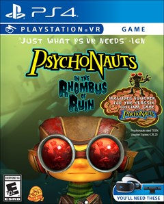 Psychonauts: In the Rhombus of Ruin PlayStation 4 Box Art