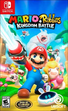 Mario + Rabbids: Kingdom Battle Nintendo Switch Box Art