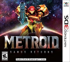 Metroid: Samus Returns Nintendo 3DS Box Art