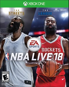 NBA Live 18 Xbox One Box Art