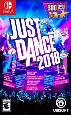 Just Dance 2018 Nintendo Switch Box Art