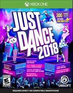 Just Dance 2018 Xbox One Box Art