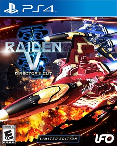 Raiden V: Director's Cut PlayStation 4 Box Art
