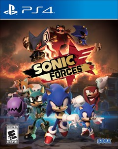 Sonic Forces PlayStation 4 Box Art