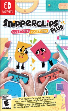 Snipperclips Plus: Cut It Out, Together! Nintendo Switch Box Art