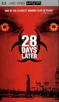 Twenty eight days is all it takes to go from everything to nothing in this eerie tale of apocalyptic horror. The end begins when a group of animal rights activists break into a primate research facility where chimps are chained before screens flashing scenes of gruesome violence. Ignoring a researcher's warnings, the activists release the chimps and are immediately attacked. Twenty eight days later...Jim (Cillian Murphy), wakes from a coma in a deserted intensive care unit. Jim wanders into London's streets, finding only desolation and worse. The world has been consumed by an incurable virus