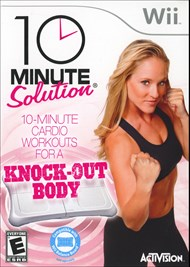 Create a better You ten minutes at a time with this fitness game based on a the popular 10-Minute Solutions DVD workout series. Customize quick-hit, ten-minute routines that get real results from three main workout categories: aerobics, cardio boxing, and mixed games. The exercises are designed to feel  like a game, training you through interactive play rather than having you keep up with an on-screen trainer. Each session is fun and focused, making it easier than ever to fit fitness into a busy schedule. Ten-Minute Solutions works with the Wii Balance Board, but works you out just as well w