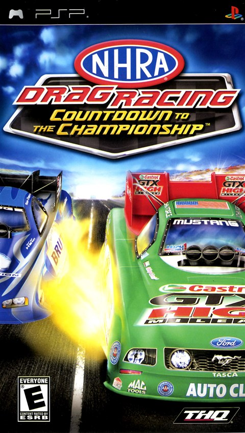 nhra drag racing countdown to the championship psp video. Black Bedroom Furniture Sets. Home Design Ideas